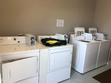 Very nice laundry facility at marina