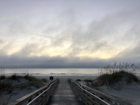 Morning fog on the Atlantic